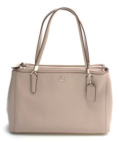Another great find on #zulily! Gray Leather Christie Shoulder Bag #zulilyfinds