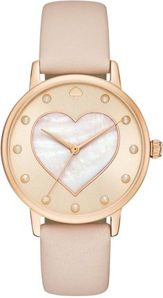 kate spade new york Women's Metro Vachetta Leather Strap Watch 34mm KSW1254