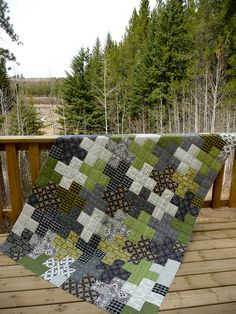 Curious Nature Crosses, Woods by CoraQuilts~Carla, via Flickr