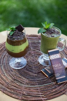 HEALTHY Chocolate Mint Pudding Parfait & Homemade Shamrock Shake! #STPATRICKSDAY #DELISH