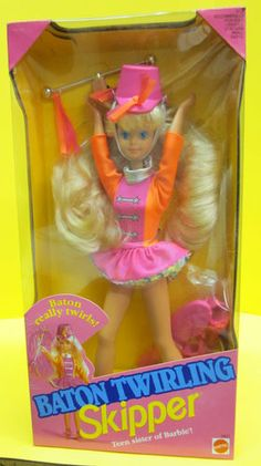 BATON TWIRLING SKIPPER - Teen sister of Barbie - Mattel 1992               (My daughter had one of these)    :)