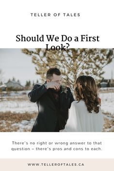 Should we do a first look? Winter first look. Crying groom first look. What's a first look? First look vs. Wedding Advice, Wedding Planning, Family Photos, Couple Photos, Couple Portraits, Winter Looks, Crying, Groom, How To Plan
