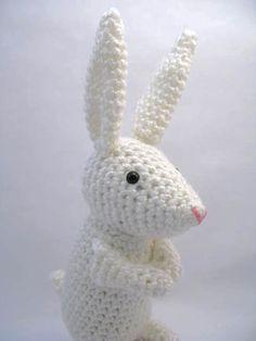 White Bunny Rabbit Amigurumi Crochet by KippysSoMature on Etsy, $30.00