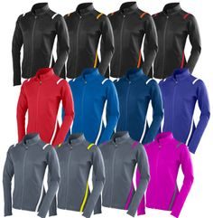 • 90% Polyester/10% spandex knit • Ladies fitted cut • Wicks moisture away from the body • Full length zipper with zipper garag | Midwest Volleyball Warehouse