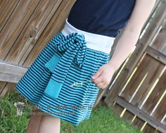 Re-purposing: Shirt(s) to Skirt with Tie: when you have a few shirts that had it make them into a little girls' skirt.   www.makeit-loveit.com