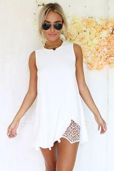 Lace Hem Dress | SABO SKIRT