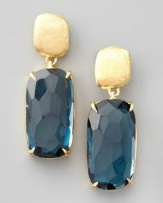 Murano London Blue Topaz Drop Earrings by Marco Bicego at Neiman Marcus.
