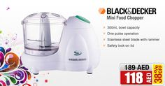 38% OFF on Black & Decker SC300 Mini Chopper @ AED 118/- only Buy NOW  ➜ is.gd/Brj6Uy