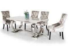 Arianna Marble Rectangular Dining Table 180cm