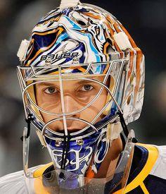 Pekka Rinne of the Predators, owner of the most onomatopoeically pleasing name among NHL goalies. (2nd place: Tuukka Rask)