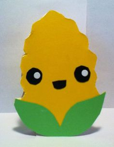 Handmade Kawaii Corn on the Cob Card  by justcreativecards on Etsy, $3.50