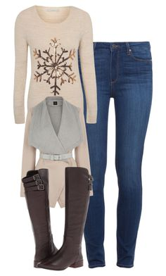 """""""Caroline Forbes Inspired Winter Outfit"""" by mytvdstyle ❤ liked on Polyvore featuring Paige Denim, George, Oasis, BCBGMAXAZRIA, Winter, Inspired, tvd and thevampirediaries"""