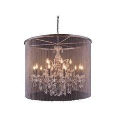 "Elegant Lighting 1131D36MB/RC Brooklyn 36""W 15-Light Chandelier"