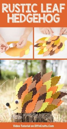 Follow a simple tutorial for making a cute fall hedgehog craft with kids! Three unique ideas make this a fun custom project for fall. This is a cute upcycled craft project for kids and a perfect homeschooler craft for fall! #hedgehog #upcycled #kidscraft #fallcraft #fall #thanksgiving #woodlandcreature