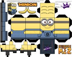 Minion Cubeecraft Printables from Despicable Me 1 and 2   SKGaleana
