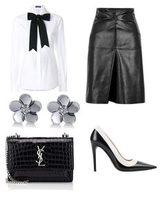 """Untitled #601"" by mchlap on Polyvore featuring Dolce&Gabbana, Isabel Marant, Allurez and Yves Saint Laurent"