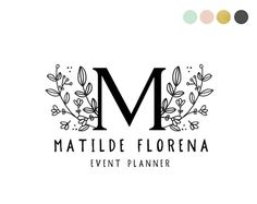 Handdrawn Floral Logo Design by Maggie Molloy for Crooked Little Pixel