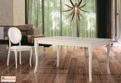 Salle à Manger Laquée Blanche   Table Extensible 140 200x90 Aragon + 4 Chaises  Nadine 2900a4db8424