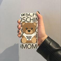 iphone7プラス ケース モスキーノ 可愛い 超萌え クマ熊くまベア浮き彫りiPhone6 6SplusソフトシリコンTPU 韓国Moschino携帯カバー