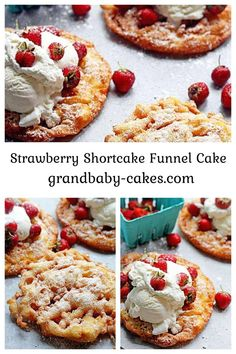 Strawberry Shortcake Funnel Cake Recipe – learn how to make funnel cake with this classic summertime dessert with a fun seasonal twist with a strawberry shortcake flavor!