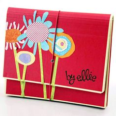 Make a kids art catchall for each of the kiddos in your house - Free Downloads included at SBE