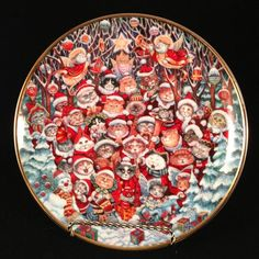 Santa Claws Plate by Bill Bell Franklin Mint Cats Limited Edition Claus Heirloom