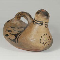 Cochiti Pueblo Historic Pottery Duck Figurine 25905 #adobegallery #SouthwestIndianPottery #CochitiPuebloPottery