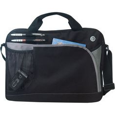 Big Interview Briefcase. A business briefcase with a mesh pocket, two pen loops, and headphone port. Made of 600D polyester with heavy vinyl backing. #promotional_products #travel_leisure #jmprintit #jmpromoteit