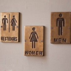 Restaurant Bathroom Signs restroom signs, restaurant sign for bathroom, men women bathroom