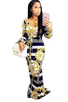Scoop Digital Print Bodycon Long Dress – risechic.com Sexy Maxi Dress 22f83ea50fa2