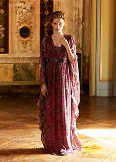 Nice! Adoro o corte/modelo do vestido. MANGO - NEW! - Dresses - Maxis - Printed chiffon gown