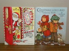 Vintage 1970s Children Hallmark Christmas Coloring Books Lot Of 2