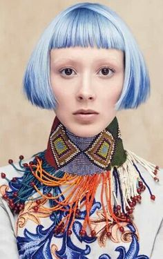 Aveda. Hair color collection. Pastel blue