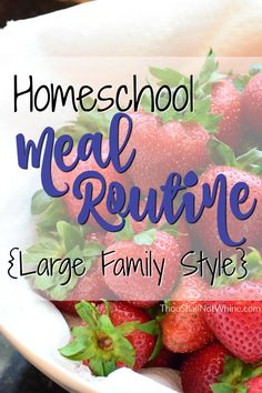 Homeschool Meal Routine Large Family Style ThouShallNotWhine.com