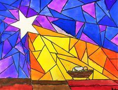 Nativity Star of Light Art Lesson for kids - Leah Newton Art - Christmas Advent Art Lessons for kids – Leah Newton Art - Advent Art Projects, Christmas Art Projects, Nativity Star, Diy Nativity, Nativity Scenes, Christmas Art For Kids, Christmas Tables, Nordic Christmas, Modern Christmas