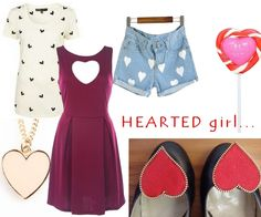 hearts outfit by broshka.pl shoe clips