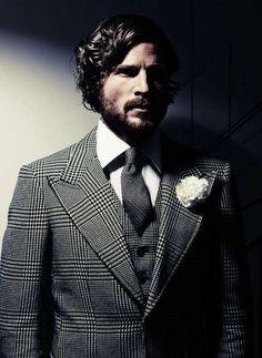 Prince Of Wales check flannel suit Sharp Dressed Man, Well Dressed Men, Flannel Suit, Smoking, Armani Men, Costume, Gentleman Style, Dapper Gentleman, Suit And Tie