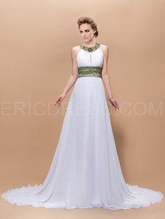 Graceful A-Line Jewel Beading Floor-Length Court-Train Evening Dress Elegant Evening Dresses- ericdress.com 10903045