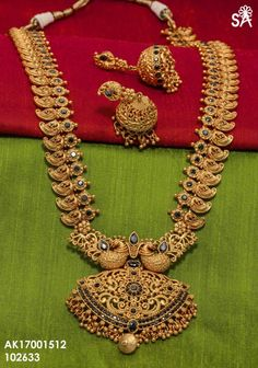 Matt finish one gram gold jewelry Gold Temple Jewellery, Gold Jewellery Design, India Jewelry, Jewelery, Silver Jewelry, Silver Rings, Mango Mala Jewellery, Branded Jewellery, Resin Jewellery