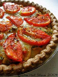 Julia's Provençal Tomato Quiche- a great take on the classic, Southern tomato pie
