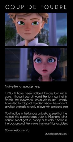 """Holy cow cheese! I immediately watched the clip to confirm and it's true!!!! Also, I'm proud that I just typed """"umbrella scene"""" into Google and this clip came up. Go Miraculours! -- Origins Part 2"""
