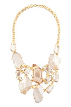 jewelry necklaces Gold Shadow Bib Necklace,Rent The Runway bridal shower ,  bridesmaid dress ,  rehearsal dinner ,