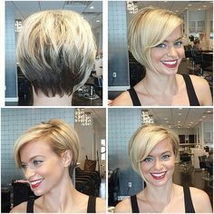 Most of this bob hairstyles fit women especially the ones with a round face. We have gathered together the Short Bob Haircuts for Women that are really amazing Bob Haircuts For Women, Best Short Haircuts, Short Hair Styles Easy, Short Hair Cuts For Women, Latest Short Hairstyles, Straight Hairstyles, Hairstyles 2016, Pixie Bob Haircut, Haircut Short