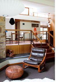 Danish Modern Home in Australia (from 'Design Files Daily') - interior rock wall. Repinned by Secret Design Studio, Melbourne