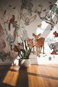 Baby Room Decor, Nursery Room, Kids Bedroom, Forest Nursery, Woodland Nursery Decor, Forest Room, Forest Wallpaper, Of Wallpaper, Unique Wallpaper