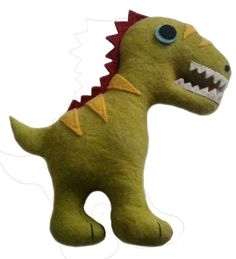 Dinosaur Felted Friends Stuffed Animal - NEW!