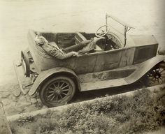 The Abandoned Car (1925) Margrethe Mather (4 March 1886 – 25 December 1952) was one of the best known female photographers of the early 20's. Initially she influenced and was influenced by Edward Weston while working in the pictorial style, but she independently developed a strong eye for patterns and design that transformed some of her photographs into modernist abstract art. In later life she abandoned photography, and she died unrecognized for her photographic accomplishments.