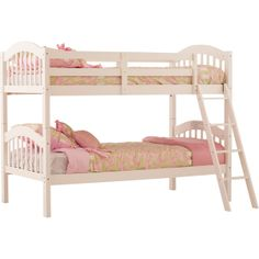 $223.99 Storkcraft Long Horn Twin Over Twin Bunk Bed - White