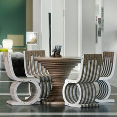 Cardboard Design, Cardboard Furniture UK, Cardboard Table Clessidra, Twist Cardboard Chair, at Mo.On Hotel, Hotel Design, designed by Giorgio Caporaso, Made in Italy.