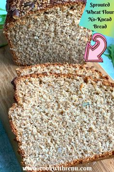 Sprouted Wheat Flour No Knead Bread is an easy peasy healthy bread, without any yeast and egg and can be assembled in 10 minutes. Vegetarian Eggs, Vegetarian Recipes, Easter Specials, No Knead Bread, Types Of Cakes, Special Recipes, Easter Recipes, Easy Peasy, Bread Baking